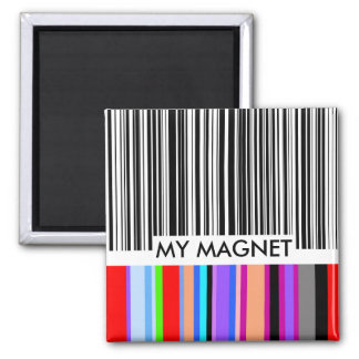 Color Bar Code..with your text. Magnet