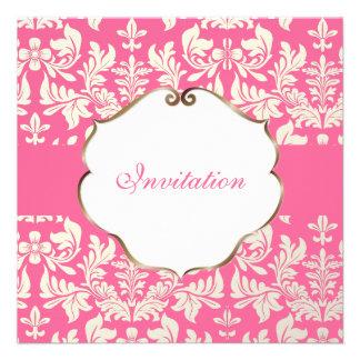Color barroco del damasco Pink DIY de PixDezines Comunicados Personalizados