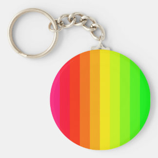 Color Bars 02 Basic Round Button Keychain
