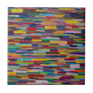 Color Bars Art Tile