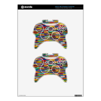 Color Bars Art Xbox 360 Controller Skins