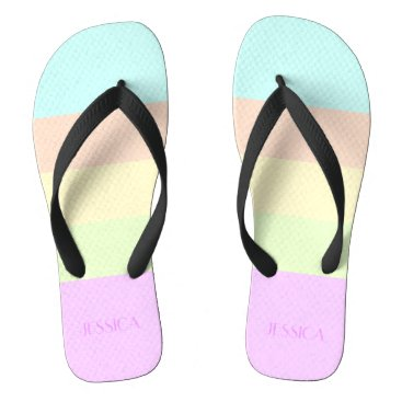 Color Bars - CENTER COLOR, LEMON CHIFFON Flip Flops