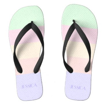 Color Bars Flip Flops