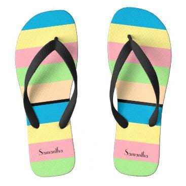 Color Bars Flip Flops