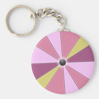 Color Beams Pink Keychain
