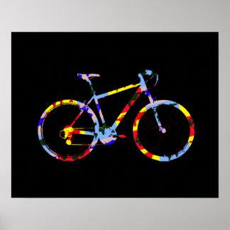 color bicycle - biking decor