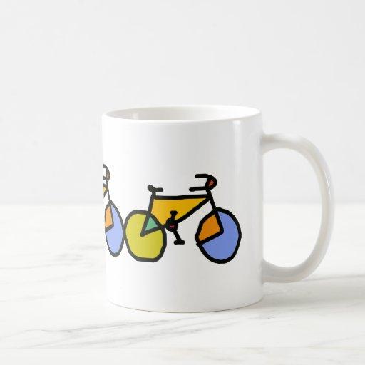color bike classic white coffee mug