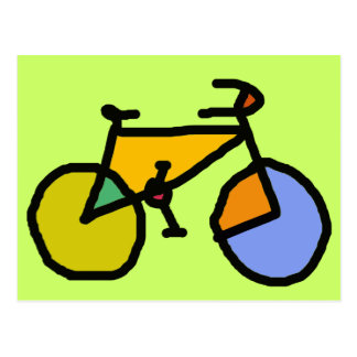 color bike postcard