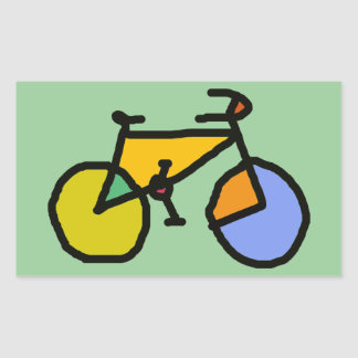 color bike rectangle stickers