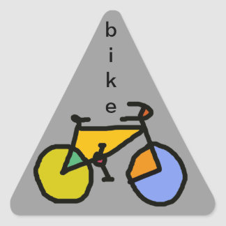 color bike triangle sticker