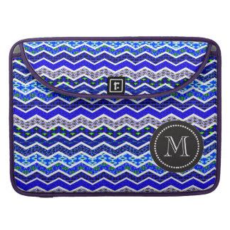 Color blanco azul de los diseños geométricos de Ch Fundas Macbook Pro