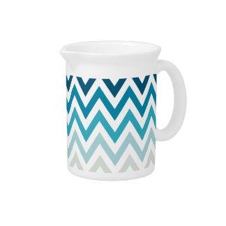 Color blanco azul de los diseños geométricos de Ch Jarra De Beber