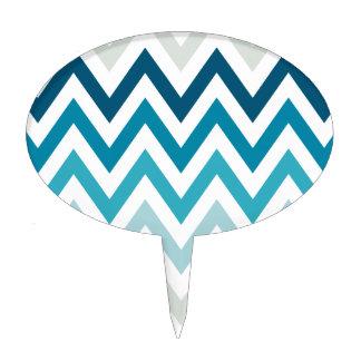 Color blanco azul de los diseños geométricos de figuras para tartas