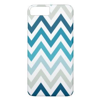 Color blanco azul de los diseños geométricos de funda iPhone 7 plus