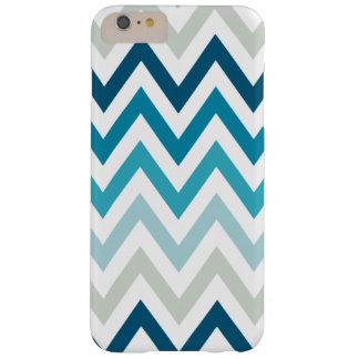 Color blanco azul de los diseños geométricos de funda para iPhone 6 plus barely there