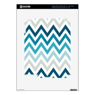 Color blanco azul de los diseños geométricos de pegatinas skins para iPad 3