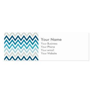 Color blanco azul de los diseños geométricos de tarjetas de visita mini