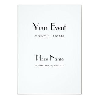 Color blanco de papel básico 5x7 de la invitación