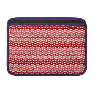 Color blanco rojo de los diseños geométricos de funda para macbook air