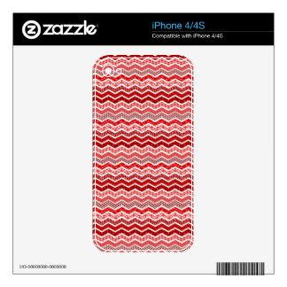 Color blanco rojo de los diseños geométricos de skins para eliPhone 4S