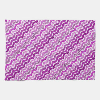 Color blanco rosado de los diseños geométricos de toalla de cocina