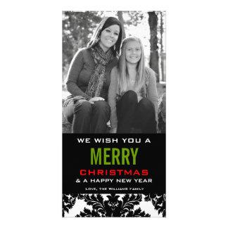 Color blanco y negro clásico del personalizar del tarjeta personal con foto