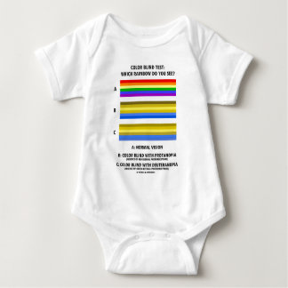 Color Blind Test (Colors Of Rainbow Vision Test) Baby Bodysuit