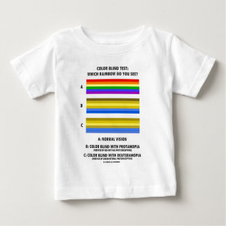 Color Blind Test (Colors Of Rainbow Vision Test) Baby T-Shirt