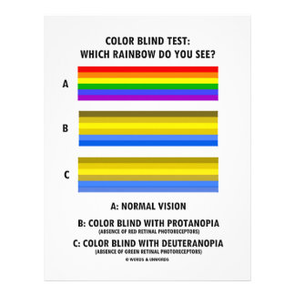 Color Blind Test (Colors Of Rainbow Vision Test) Letterhead