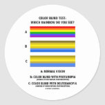 Color Blind Test (Colors Of Rainbow Vision Test) Sticker