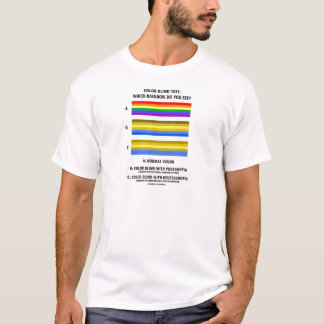 Color Blind Test (Colors Of Rainbow Vision Test) T-Shirt