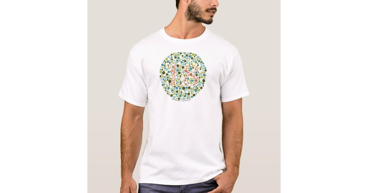 Color Blind Test T Shirt Zazzle Com