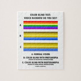 Color Blind Test Which Rainbow Do You See? Jigsaw Puzzle