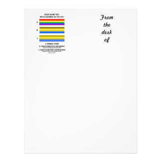Color Blind Test Which Rainbow Do You See? Letterhead