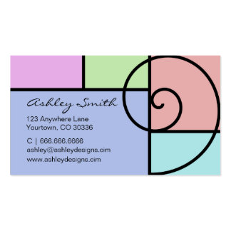 Color Block 1 and Swirl business card