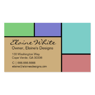 Color Block 2 business cards