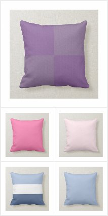 Color Block and Solid Color Pillows