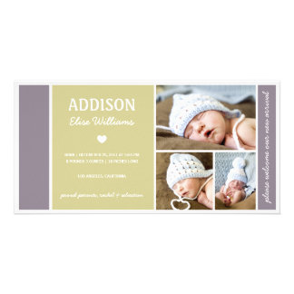 COLOR BLOCK | BABY BIRTH ANNOUNCEMENT PHOTO CARD