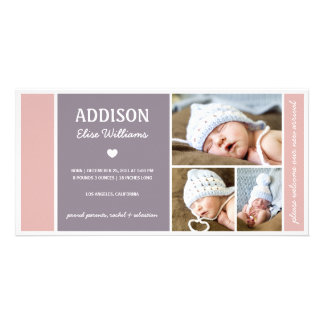 COLOR BLOCK | BABY GIRL BIRTH ANNOUNCEMENT