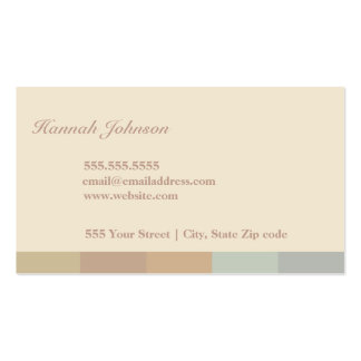Color-block Business Card Template