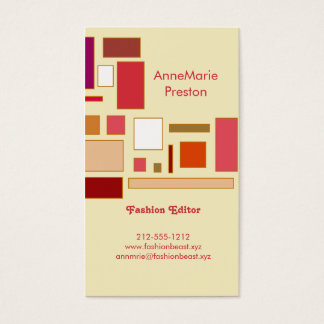 Color Block: Cake Business Card