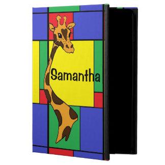 Color Block Cartoon Giraffe iPad Air Cover