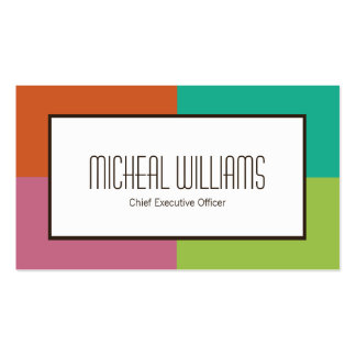 Color Block CEO Company Business Cards