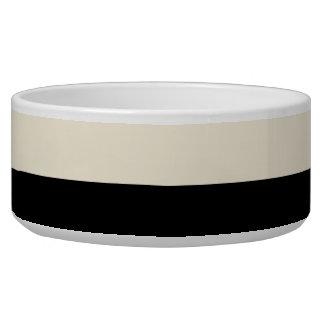 Color Block Ceramic Food Water Bowl (Black/Egg)