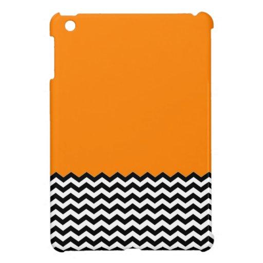Color Block Chevron iPad Mini Case- Orange