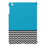 Color Block Chevron iPad Mini Case-Sky Blue