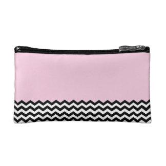 Color Block Chevron-Pink Makeup Bag