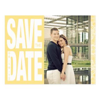 Color Block- Custom Save the Date - Canary Postcard