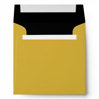 Color Block Gold Envelope Lined in Black zazzle_envelope