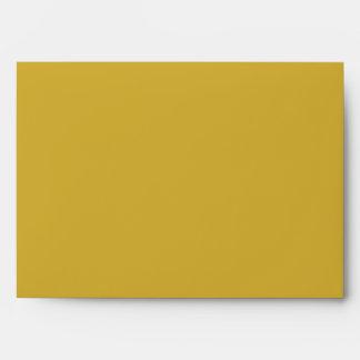 Color Block Gold Envelope Lined in Black Sobres